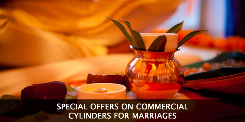 Commercial LPG Cylinders for Marriages