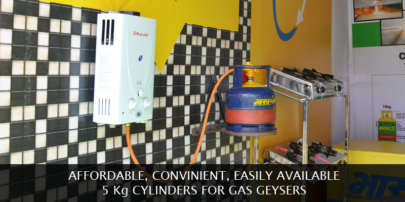 5 Kg commercial cylinder for retail and domestic use.