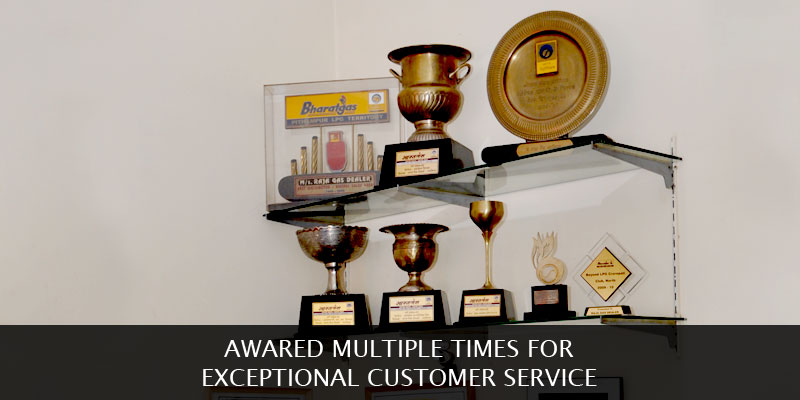 Multiple awards wons by Raja Gas Dealers for excellence in service